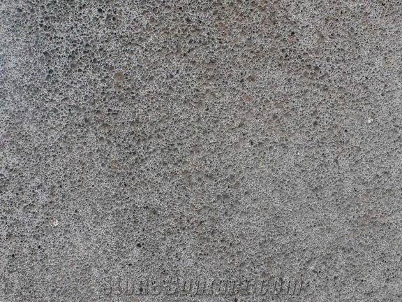 Lava stone bus hamred and brushed